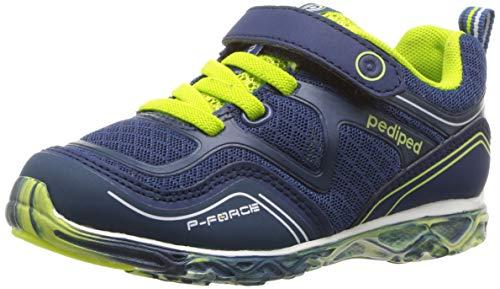 pediped Boys' Force Sneaker, Indigo, 28 Child EU Big Kid (11 11.5 US)