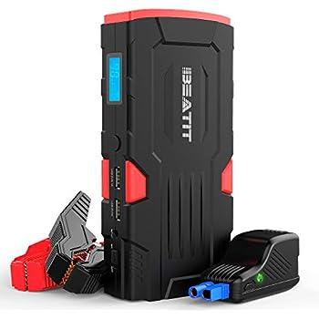 Cargador de bater/ía port/átil con QC 3.0 Output SuperSafe Car Emergency Battery Booster Pack GOOLOO 800A Peak 18000 mAh Car Jump Starter Built-in LED linterna