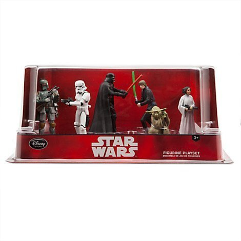 Star Wars Figure Playset Luke Skywalker Princess Leia Includes Yoda Boba Fett and Stormtrooper Disney Darth Vader