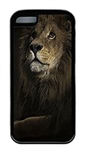 for iphone 4/4s Case Cool Animal Lion TPU Custom for iphone 4/4s Case Cover Black