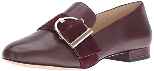 Nine West Womens Zance Leather Ballet Flat Wine