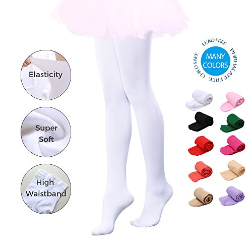 aa8967d91b7 Ballet Dance Tights Ultra Soft Transition Girls Student Footed  Tight(Toddler Little Kid