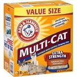 Church and Dwight Company 28Lb Multi Cat Litter 2286 Cat Litter/Pan, My Pet Supplies