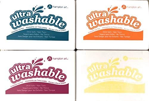 Hampton Art Washable Ink Pads for Kids Set of 4 Pads