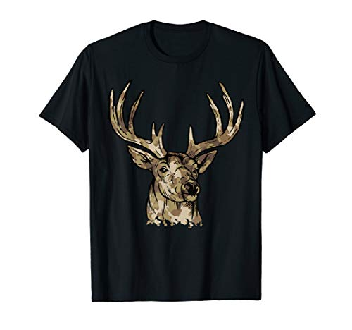 Deer Gear for Hunters - Camo Whitetail Buck T-Shirt