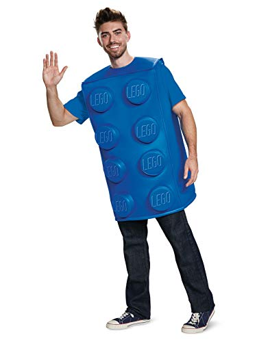 Disguise Unisex Brick Costume, Blue, Adult M/L -