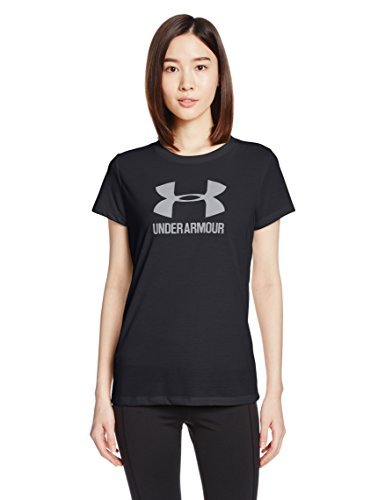 Under Armour Women's Threadborne Sportstyle Crew Top, Black/Metallic Silver, ()