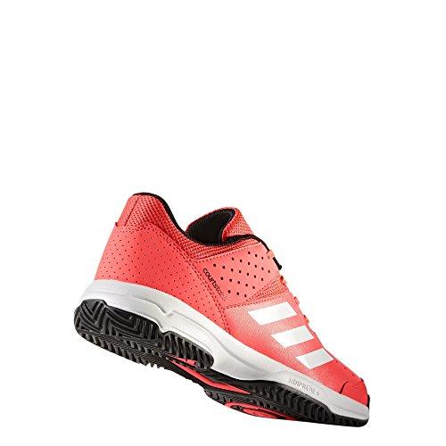adidas Unisex-Kinder Court Stabil Jr Handballschuhe Mehrfarbig (Rojsol / Ftwbla / Negbas)