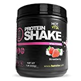Hot Vita Meal Replacement Protein Shakes for Women - Gluten Free, Non-GMO, Meal Replacement Protein Powder for Weight Loss (Strawberry)