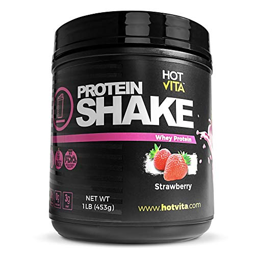 Hot Vita Meal Replacement Protein Shakes for Women – Gluten Free, Non-GMO, Meal Replacement Protein Powder for Weight Loss Strawberry