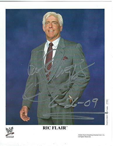 Ric Flair Signed Original WWE Promo 8x10 Photo #2 - Autographed Wrestling Photos