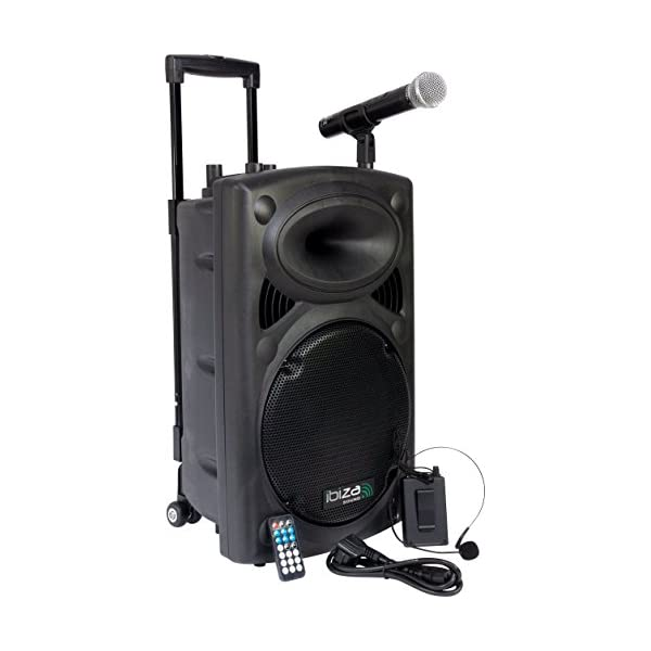 Ibiza PORT12VHF-BT Sonorisation portable 12'' USB/SD/AUX/MP3/Bluetooth Noir 1