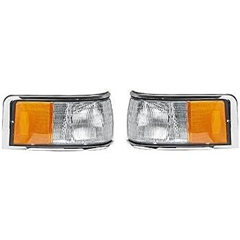 Pair Set Both Driver and Passenger NEW FOVY15A201B FOVY15A201A FO2550131 FO2551131 No Emblem // Logo 1990-1994 Lincoln Towncar Cornerlamp Cornerlight