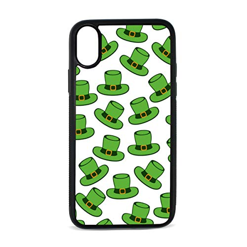 Apple iPhone X Case St Patricks Day Gifts Hat Green Liquid Silicone Phone Case with Hard Plastic PC Ultra Thin Mobile Phone Cover Case