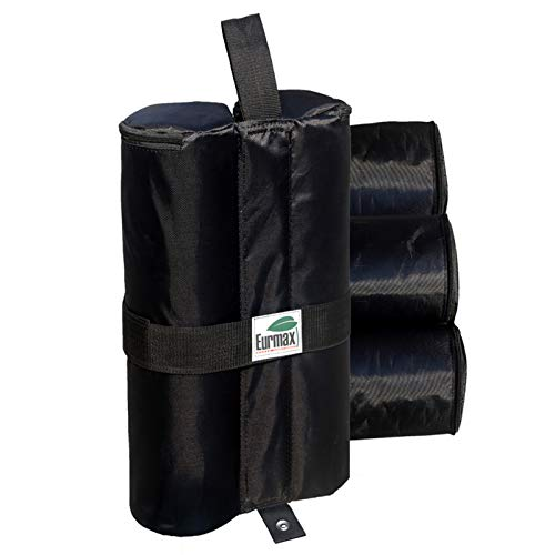 Eurmax 60 lbs pc Deluxe Canopy Tent Weights Sand Bag Leg Weights Dual Zipper Partition 1680D Polyester 4pc-Pack