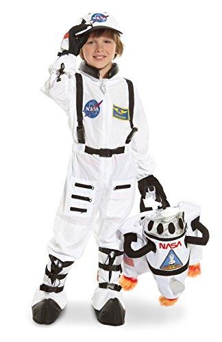 Astronaut Costume For Girls (Underwraps Astronaut Child 10-12 Costume, White)