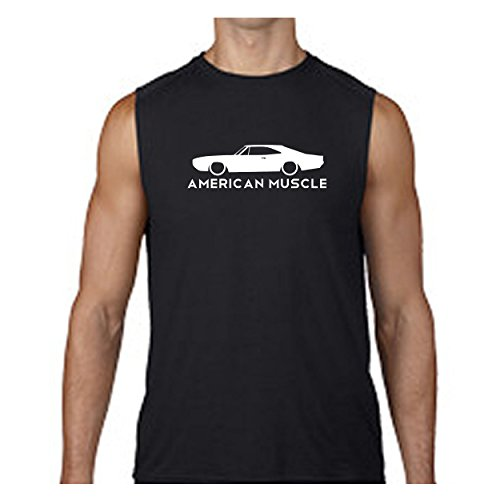 Lifestyle Graphix American Muscle Dodge Mopar Charger Challenger Car Hemi Sleeveless T Shirt - 2XL