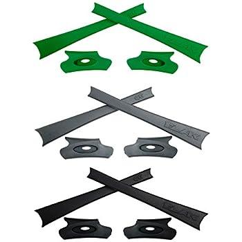 HKUCO Black/Grey/Green Replacement Rubber Kit For Oakley Flak Jacket/Flak Jacket XLJ Sunglass Earsocks jF2QepX