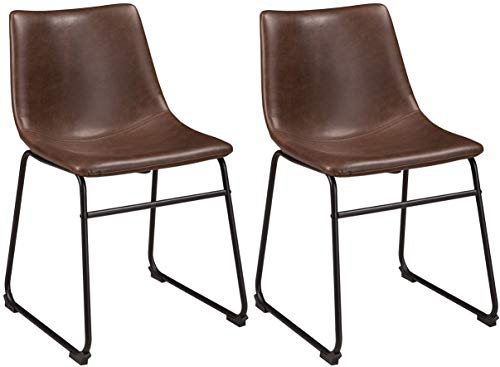 Ashley Furniture Signature Design - Centiar Dining Room Chair - Two-Tone (Brown Modern Furniture)