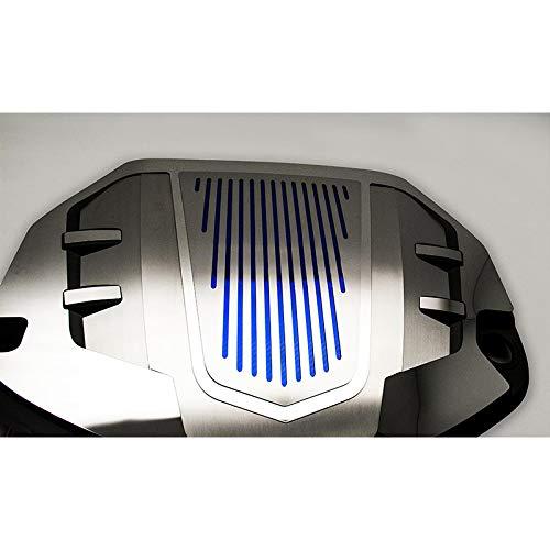Upgrade Your Auto Polished//Brushed Engine Shroud Cover w//Black C-Fiber Inlay for 16-18 Camaro 1LT V6