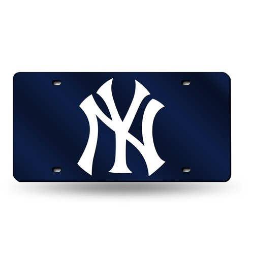 Rico Industries - New York Yankees Laser Cut Blue License Plate (Blue Laser License Plate)
