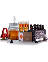 Northern Brewer - All Inclusive Gift Set 1 Gallon Small Batch HomeBrewing Starter Kit - One Gallon Recipe With Equipment For Making Homemade Beer (Go Pro Chinook IPA)