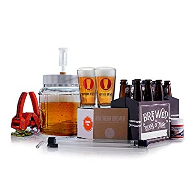 All Inclusive – Go Pro 1 Gallon Small Batch Beer Brewing Starter Kit Equipment Set with Chinook IPA Beer Recipe Kit