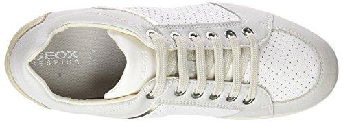 Stardust B Blanc Sneakers Geox Basses White Bianco Femme qwFAd6ndZ
