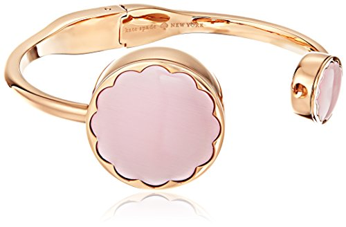 Kate Spade New York Scallop Rose Gold-Tone and Pink Mother-of-Pearl Hinge Bangle Activity Tracker