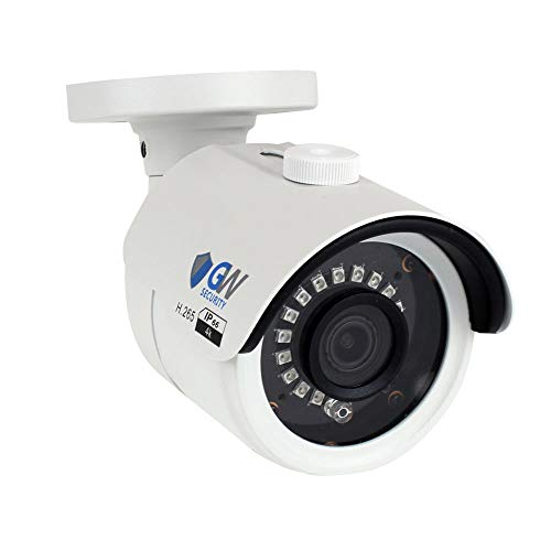 GW Security 8MP (3840×2160) 3.6mm Wide Angle Outdoor Indoor Onvif H.265 4K 2160p PoE IP Bullet Camera (White)