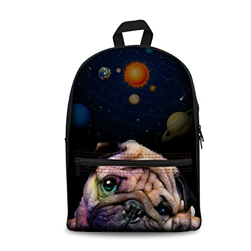 Bulldog Mujer Coloranimal Bolso Cat Large Galaxy Galaxy al 5 Hombro K para CC3654J AxqCFx7wR