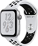 Apple Watch Series 4 (GPS only) Aluminum Case Compatible with iPhone 5s and Above (Silver Aluminum Case with Pure Platinum/Black Nike+ Sport Band, 44mm)