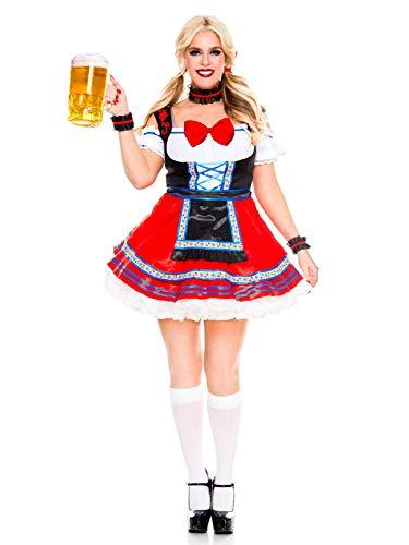 Music Legs Sexy Oktoberfest Beer Babe Costume (1X/2X)]()