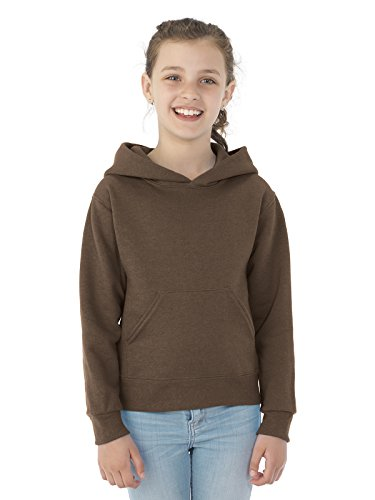 (Jerzees Youth NuBlend� Hooded Pullover Sweatshirt (Chocolate) (Large))