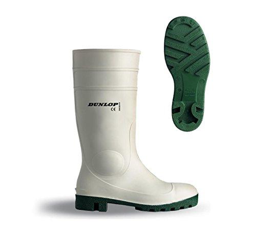 Dunlop Protomastor Safety Waterproof Wellington Boot in White | UK5 EU38
