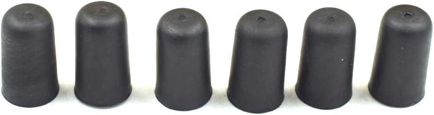 Timiy Rubber Cello Tail Rubber Pad Black 6pcs