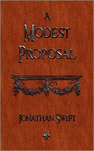 Amazon Com A Modest Proposal 9781603863551 Jonathan Swift Books