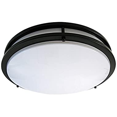 Light Blue™ LED Flush Mount Ceiling Light, Oil Rubbed Bronze 16-Inch 4000K, Dimmable, 1610 Lumens