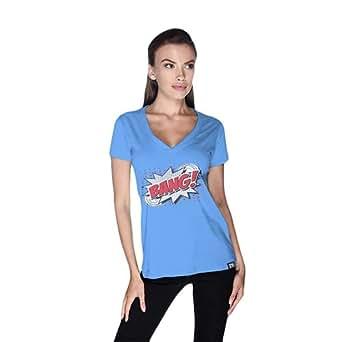 Creo Bang Retro T-Shirt For Women - S, Blue