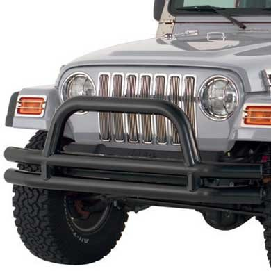 Smittybilt JB48-FT Smittybilt 3 Inch Front Double Tube Bumper with Hoop