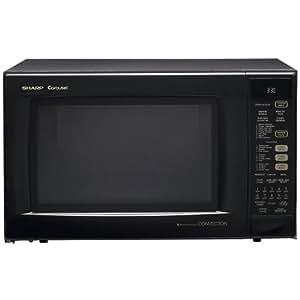 Sharp R-930AK 900 Watt 1.5 Cu. Ft. Convection Microwave Oven Black