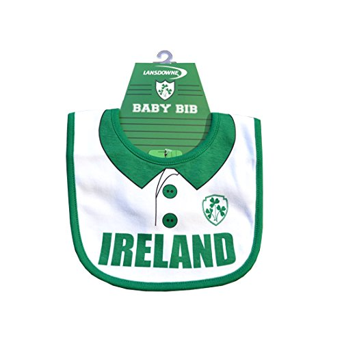 Traditional Craft Ltd. White Ireland Rugby Shirt Bib with Shamrock Crest