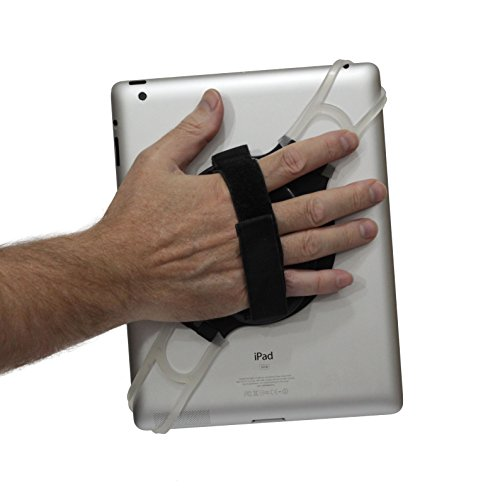 LapWorks Tablet Handler Strap with Adjustable Strap for All iPads, iPad Mini of Tablets up to 10.1 inch Including Samsung, Asus, Acer, Google, Lenovo, Kindles and Nooks (Handheld Tablet Holder)