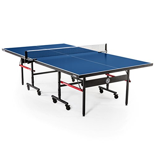 (STIGA Advantage Competition-Ready Indoor Table Tennis Table 95% Preassembled Out of the Box with Easy Attach and Remove Net)