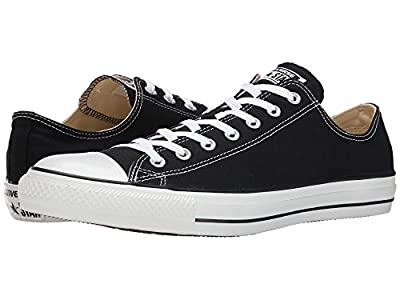 Converse Unisex Chuck Taylor All Star Ox Canvas Sneakers (12.5 B(M) US Women/10.5 D(M) US Men, Black)