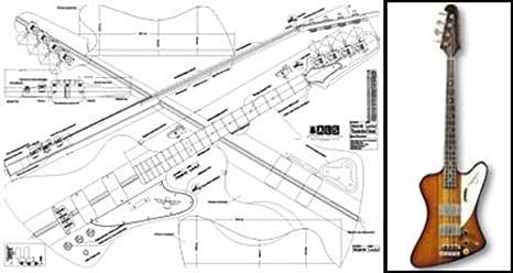 amazon com plan of gibson thunderbird 4 string bass full scale rh amazon com