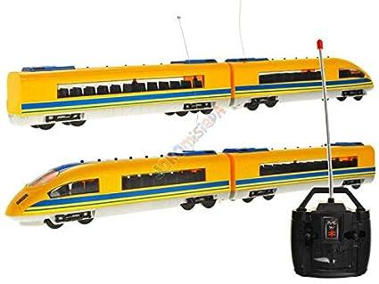 27 MHz Giallo BSD Treno Elettrico Telecomandata RC Telecomando Express Train