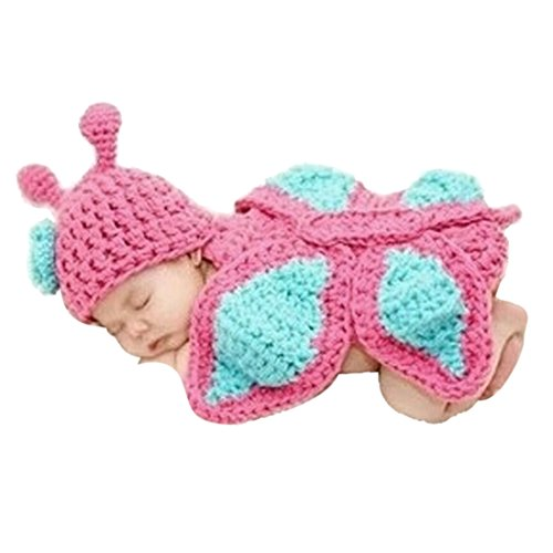 Voberry® Baby Butterfly Crochet Knit Costume Photo Prop Photography Hat Outfit