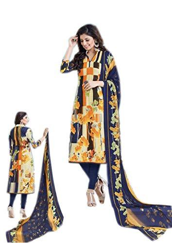 10be01759f Bluish DIGITAL PRINT SUIT Pashmina Fabric Digital Printed Pashmina Top &  Bottom Chhifon Printed Dupatta party