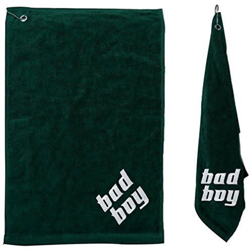 Personalized Embroidered Trifold Golf Towel Swivel Hang Clip (Cotton Sheared Terry Towel)